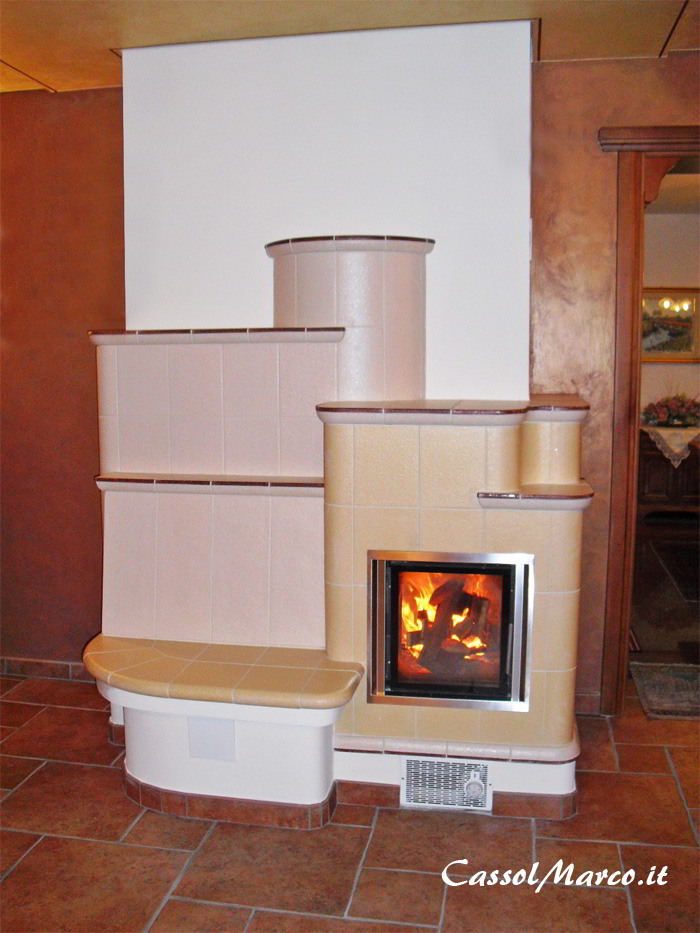 Stufe in maiolica ceramica stufa a legna, DE BIASI, riscaldamento