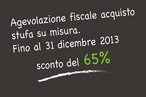 agevolazioni fiscali 2013 acquisto stufa su misura Cassol Marco