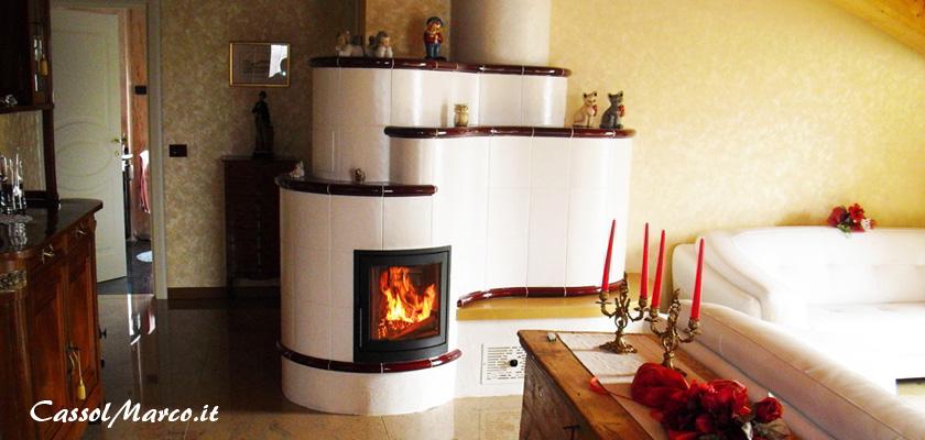 Stube prezzi stufa a legna in ceramica Cassol Marco