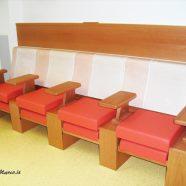 Panca su misura riscaldata per sala d'attesa