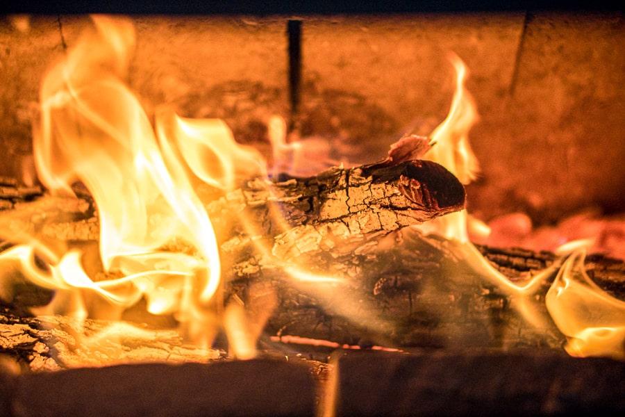 fuoco a vista stufa legna